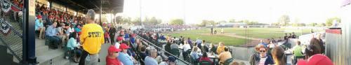 Inaugural home opener at renovated Simmons Field, Kenosha Kingfish Facebook photo