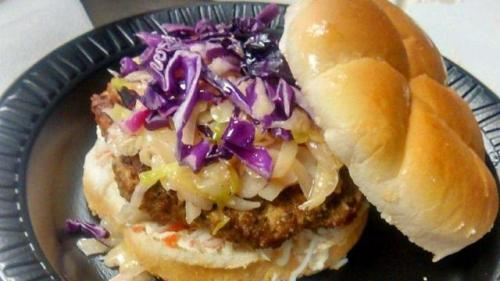 Akron RubberDucks Return of the King Burger
