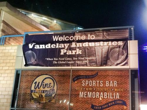 Vandelay Industries Park for Seinfeld anniversary night, Brooklyn Cyclones Facebook photo