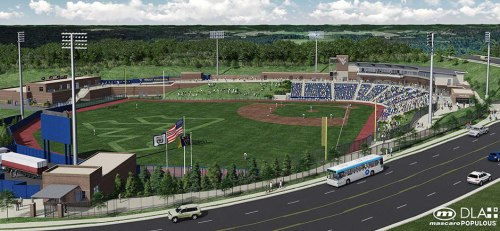 West Virginia University Ballpark Rendering 7.24.14