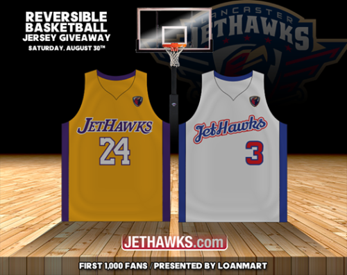 Lancaster JetHawks Reversable Basketball Jerseys