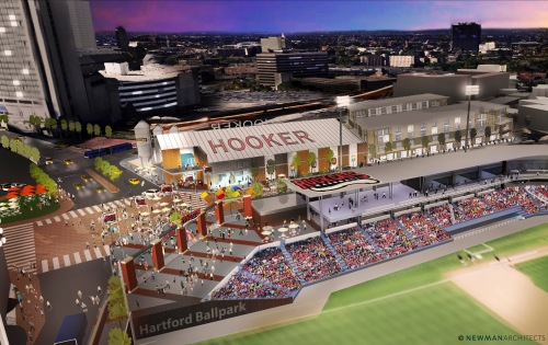 Newman Architects rendering from Thomas Hooker Brewing Co.