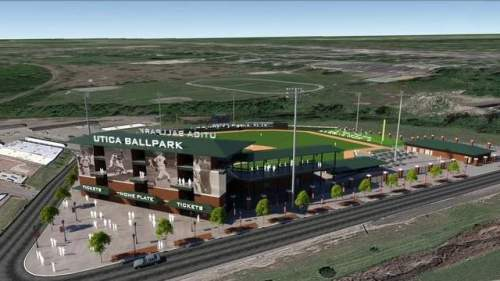 Utica Michigan Ballpark Rendering