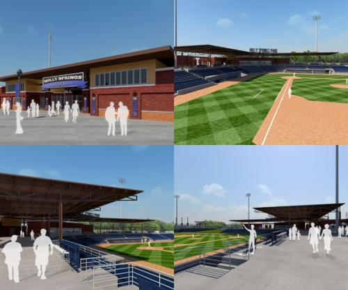 Holly Springs Baseball Renderings