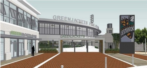 Augusta Green Jackets North Augusta Ballpark Rendering