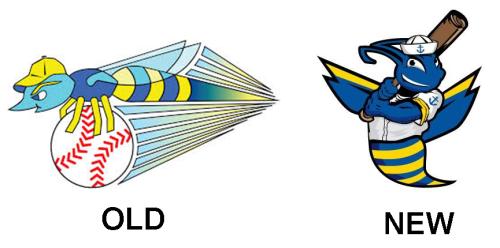 Kitsap BlueJackets Old and New Logos