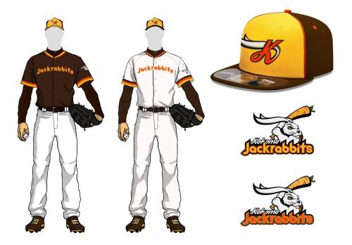 Kokomo Jackrabbits Logos and Uniforms