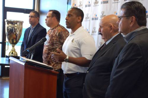 Laredo Lemurs President  Marcus Holiman announces details of the upcoming baseball classic