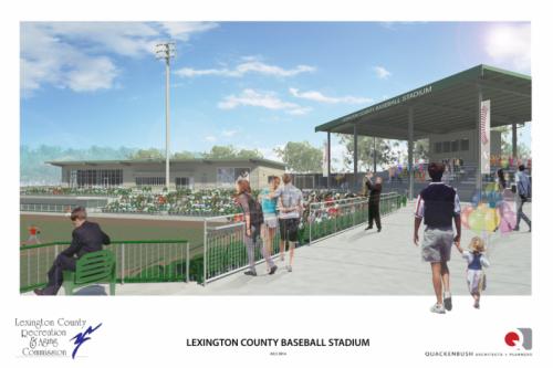 Lexington County Blowfish Ballpark Rendering