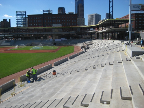 CHS Field construction photo, Oct. 24, LowertownBallpark.com