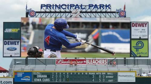 Iowa Cubs New Video Board