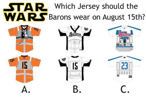 Birmingham Barons Star Wars Options