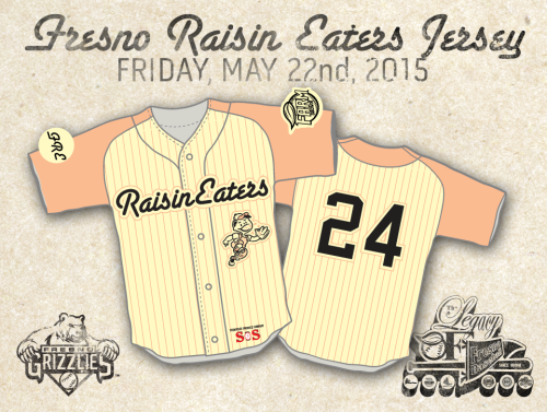 Fresno Grizzlies Raisin Eaters Jersey