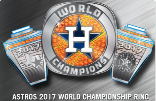Fresno Grizzlies Houston Astros 2017 Word Series Ring