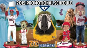 Lowell Spinners 2015 Promotional Schedule