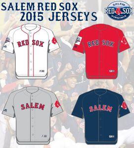 Salem Red Sox New Jerseys