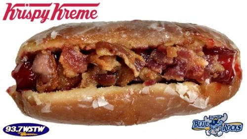 Wilmington Blue Rocks Krispy Kreme Donut Dog
