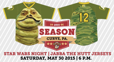 Altoona Curve Jabba the Hutt Jerseys