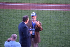 KSTP's Joe Schmit interviews Saints co-owner Mike Veeck.