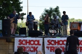 Group from the nearby School of Rock performs just around the corner from CHS Field.
