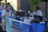WCCO broadcasts live from outside the main-gate entrance of CHS Field.