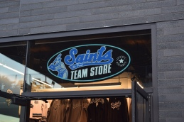 The Saints Team Store just inside the main gate at CHS Field.