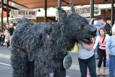A big dog puppet representing the Black Dog Cafe greets fans outside the main-gate entrance to CHS Field.