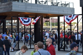 Fans enter the main-gate at CHS Field.