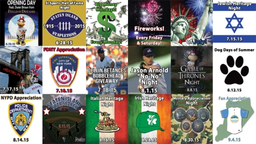 Staten Island Yankees 2015 Promotional Schedule