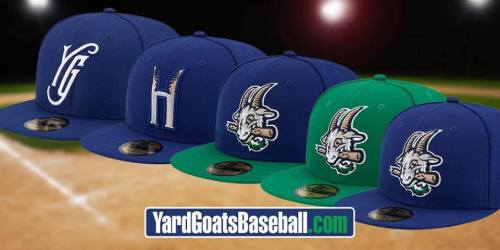 Hartford Yard Goats Caps, Yard Goats Facebook photo.