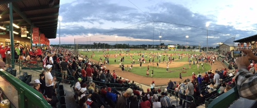 Okotoks Dawgs Canada Day Sellout Crowd