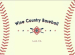 Wine Country Baseball Logo