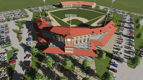 Cleburne Railroaders Ballpark Rendering