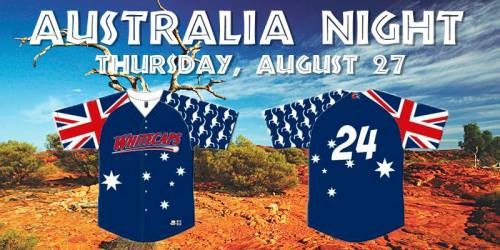 West Michigan Whitecaps Australia Night