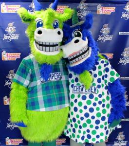 Chompers and Chew Chew, Hartford Yard Goats Facebook photo