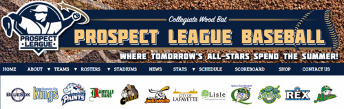 Prospect League Header with Teams