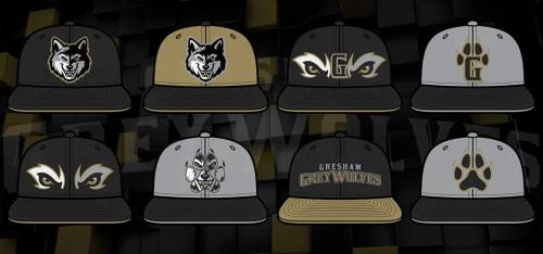 Gresham Grey Wolves Caps