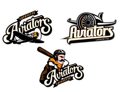 Lafayette Aviators Logo Options