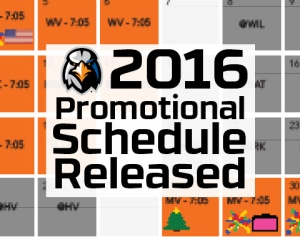 Aberdeen IronBirds 2016 Promo Schedule