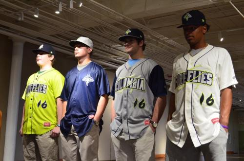 Columbia Fireflies Uniforms from team Facebook page
