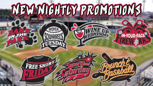 Richmond Flying Squirrels 2016 Daily Promos