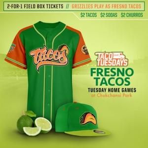 Fresno Grizzlies Fresno Tacos 2016
