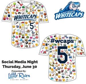 West Michigan Whitecaps Emoji Jersey