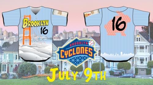 Brooklyn Cyclones Full House Jerseys