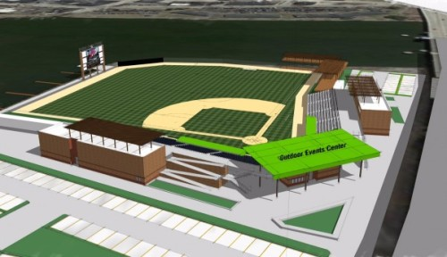 Green Bay Bullfrogs New Ballpark Rendering