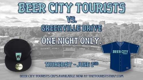 Asheville Tourists Beer City Unis