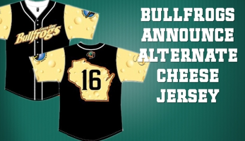 Green Bay Bullfrogs Alternative Cheese Jersey
