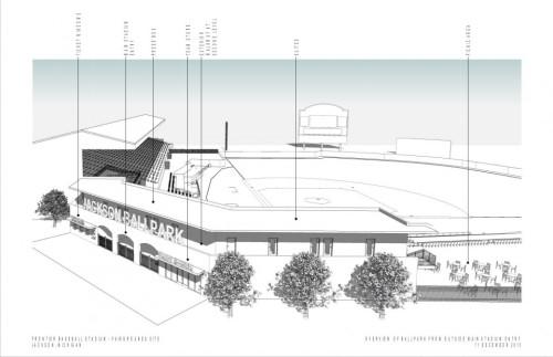 Jackson Ballpark conceptual rendering