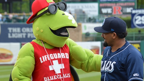Before the BlueClaws game on Sunday, May 22nd, the BlueClaws unveiled a new member of the family, RipTide.