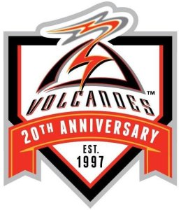 Salem-Keizer Volcanoes 20th Anniversary Logo